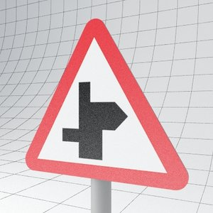 3d traffic staggered ahead - model