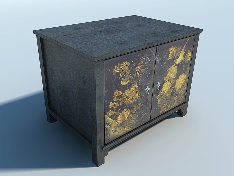 japanese furniture cabinet 3d model