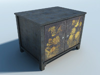 japanese furniture cabinet 3d model