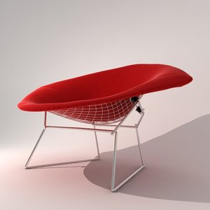 3d harry diamond chair classic model
