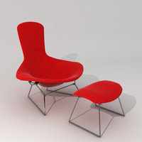 bertoia bird chair & ottoman