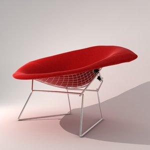 3d harry diamond chair classic model