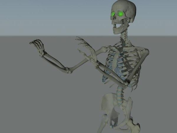 skeleton rigged 3d model