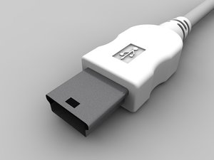 mini usb b 3d model