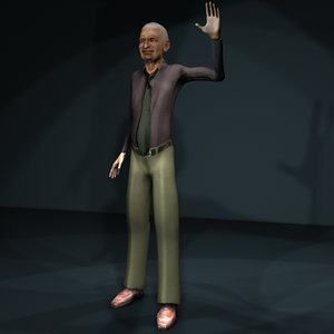 3d model old man 1