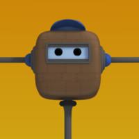 free robot character rig 3d model