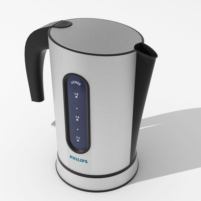 philips electric kettle 3d model