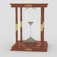 3d model hourglass sand-clock hour
