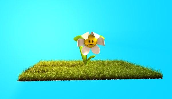flower pose mixer 3d model