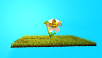flower pose mixer 3d model