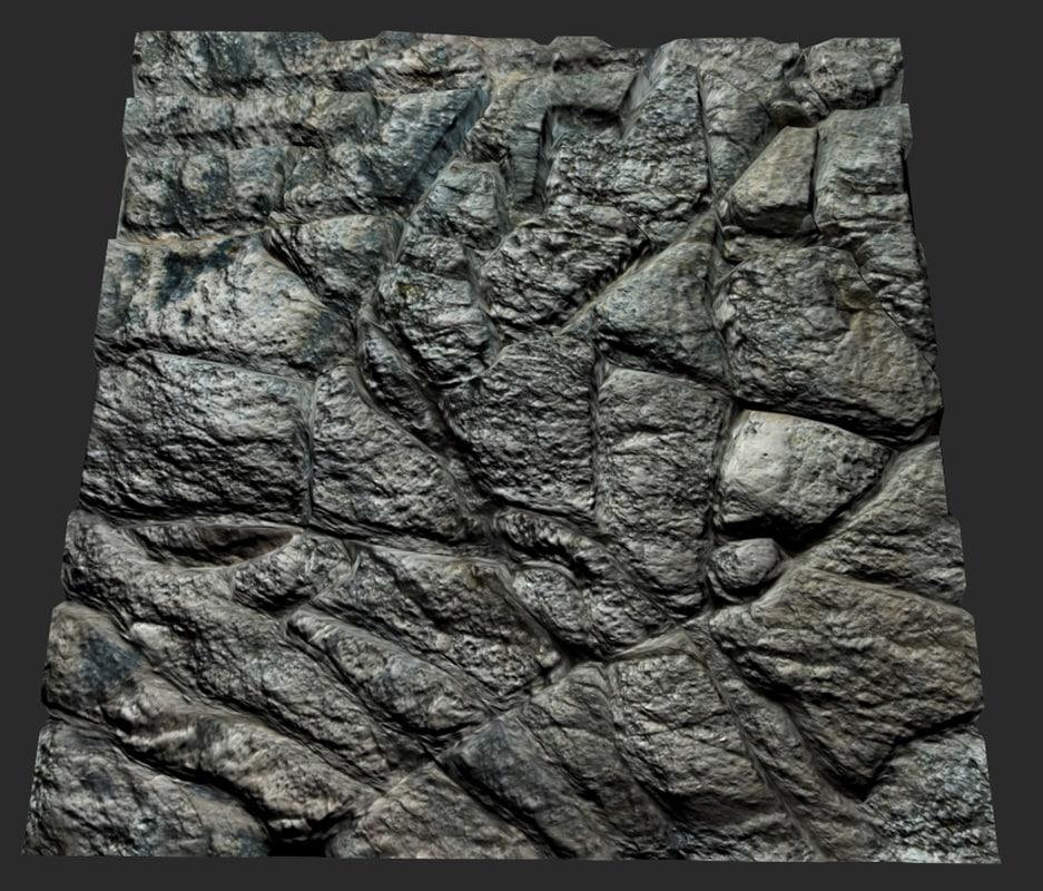max tileable rock face