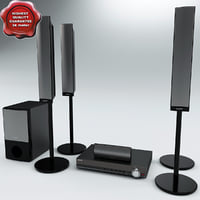 3d model speaker sony dav dz690m