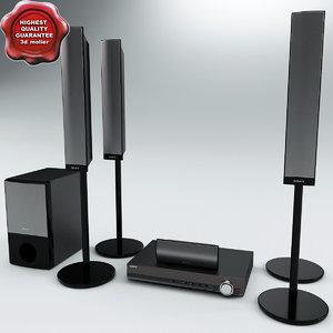 3d model speaker sony dav dz690m