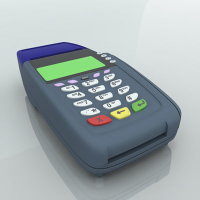 3d model card swipe machine