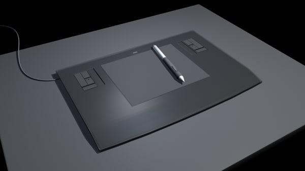 3d wacom tablet model