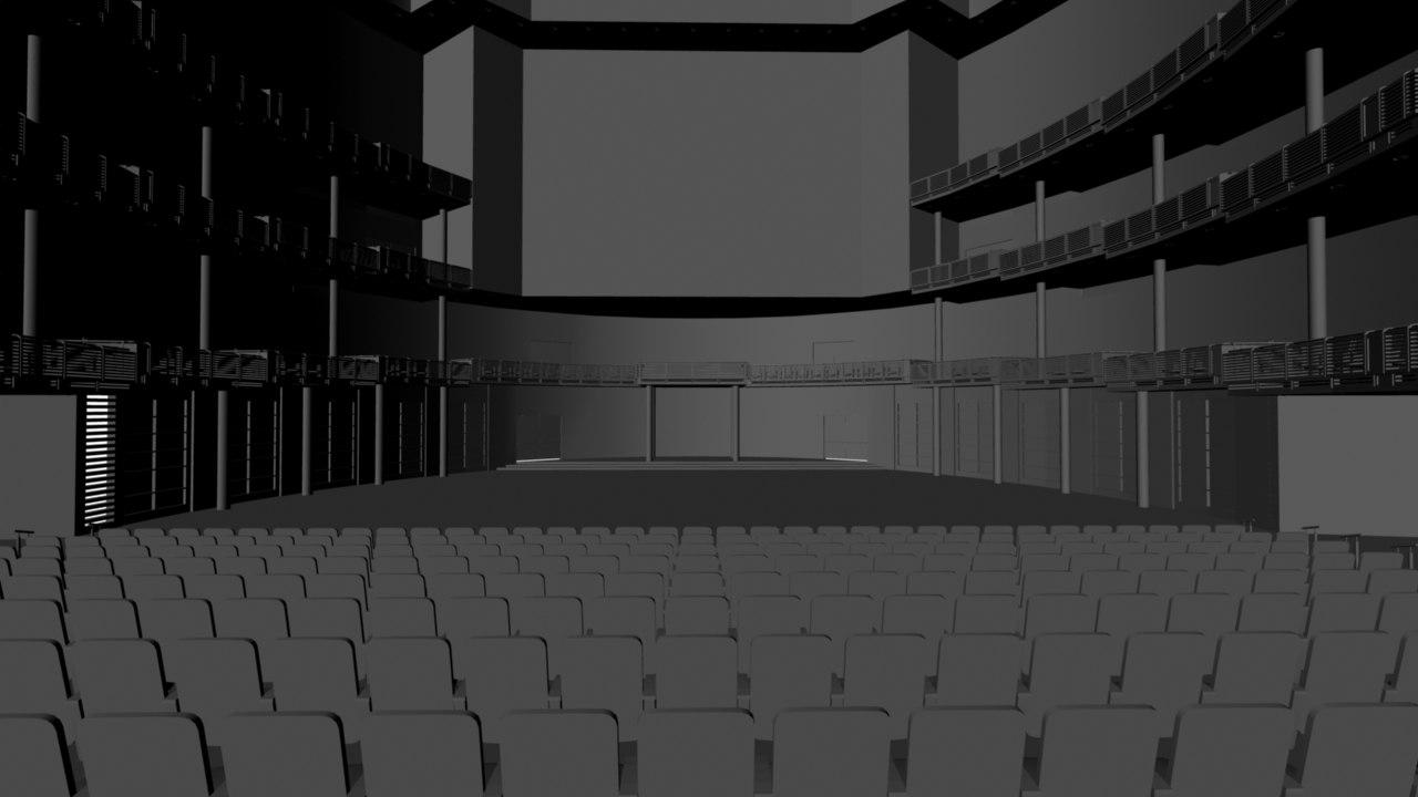 theater arena 3d obj