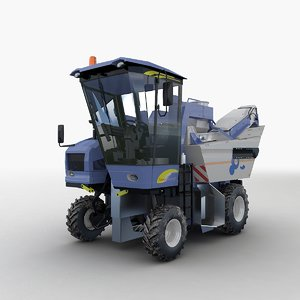 grape garvester harvesters 3d max