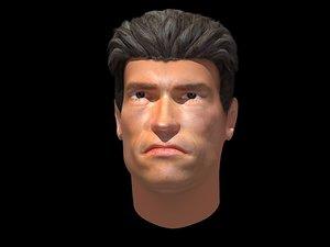 free head arnold schwarzenegger 3d model