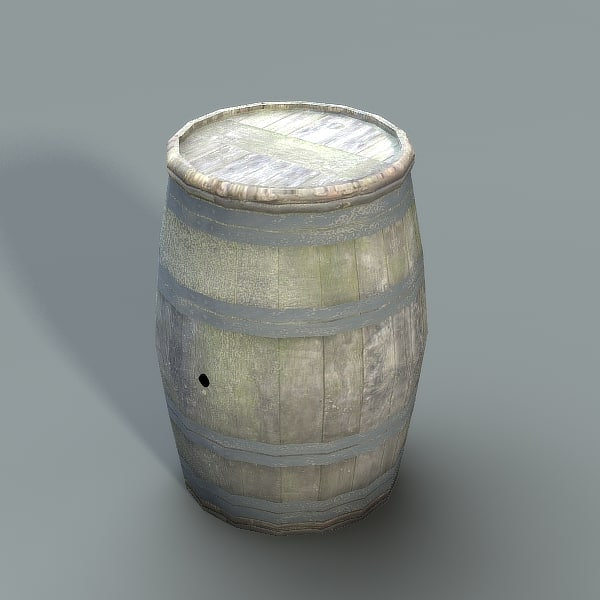 3d old barrel model