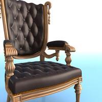 3d model victorian armchair