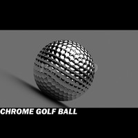 c4d golf ball chrome materials