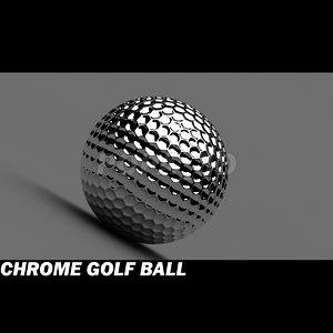 c4d golf ball chrome materials