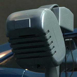 3d model drive-in speaker