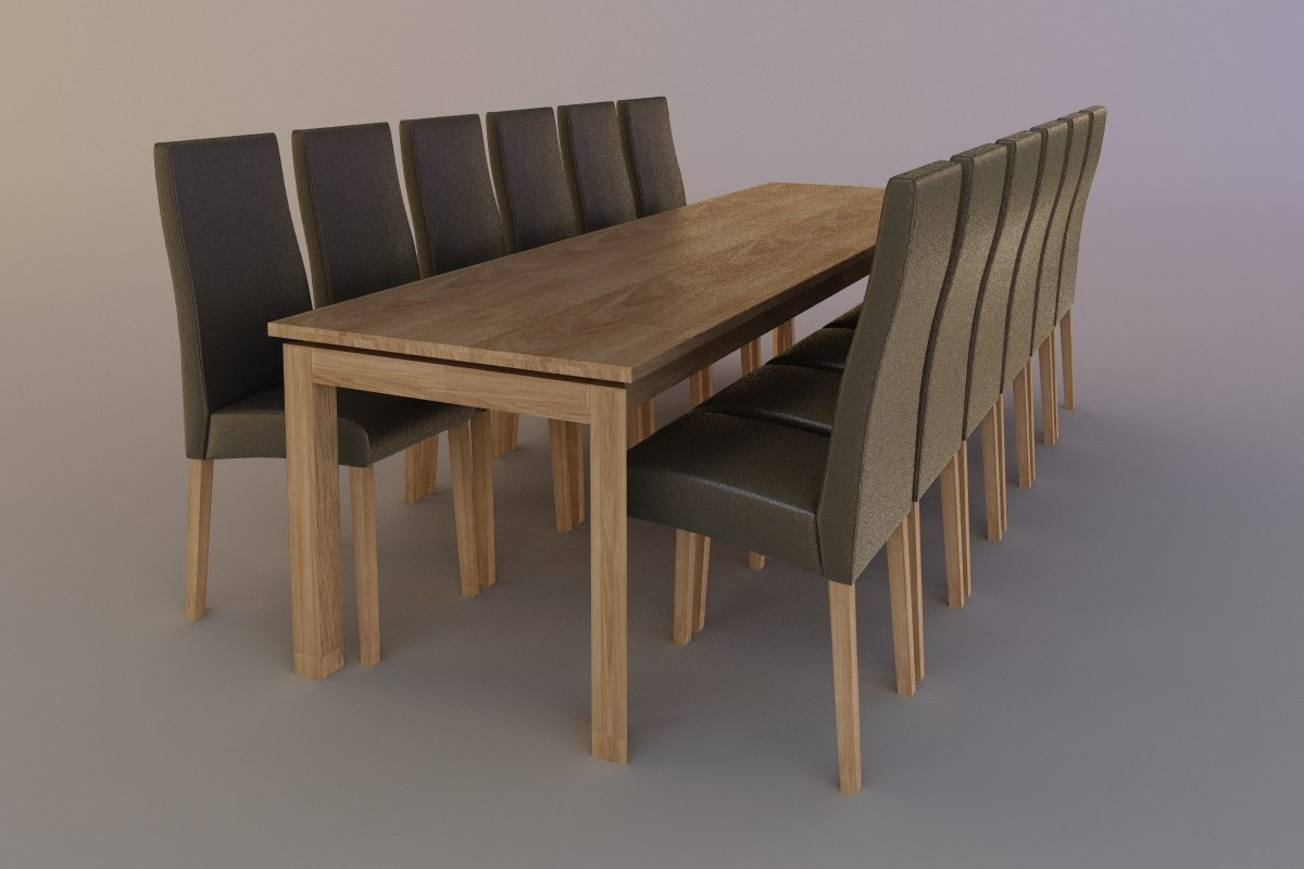 3d chair table conference model
