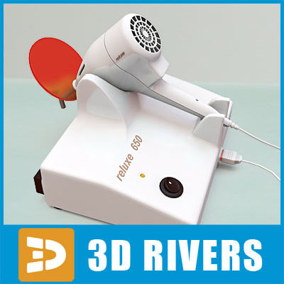 3d model curing light dental