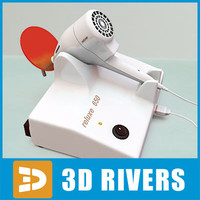 3d model curing light dental
