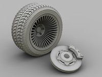 3d model of brake caliper disk
