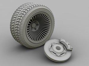 3d model of brake caliper disk
