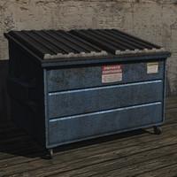 3d dumpster prop