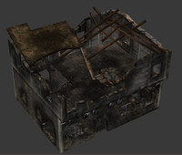 ready old house ruin 3d model