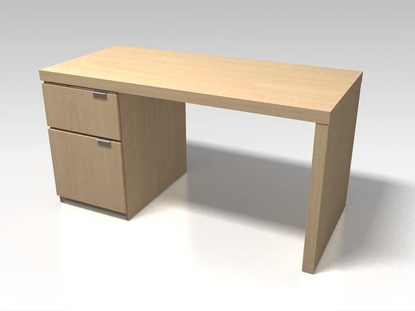 ikea office desk jonas 3d max