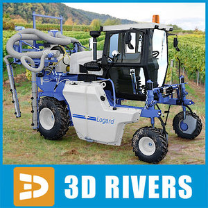3d model watering machine vineyards