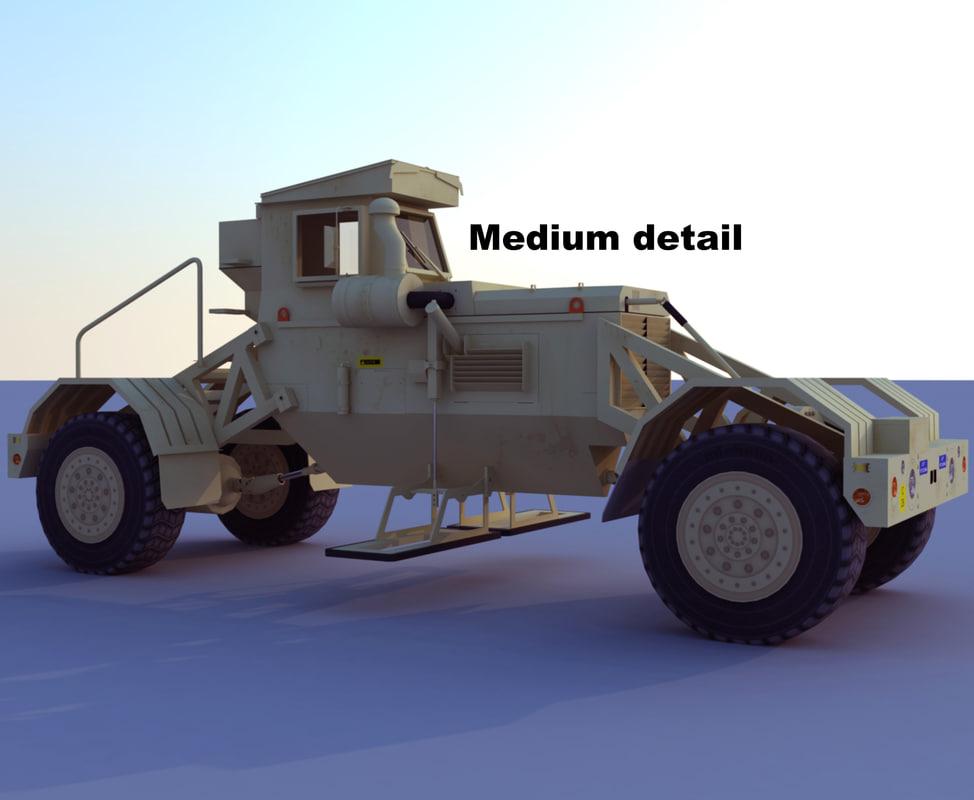 husky detection military 3d model