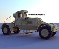 husky detection military 3d model