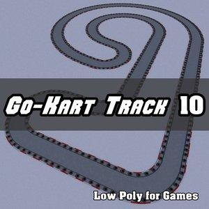 go-kart track 3d model