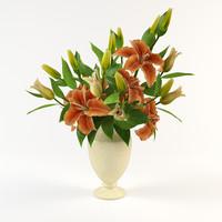 lily vase 3d model
