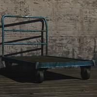 3ds max pallet truck prop