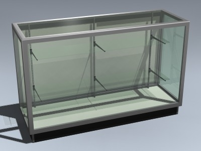 3d model retail display case