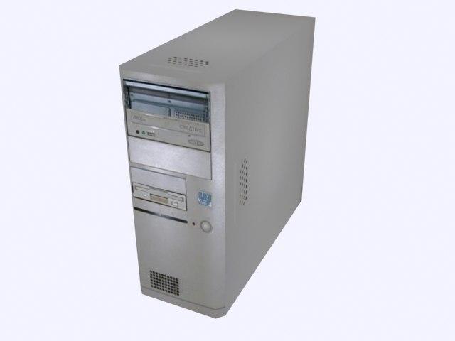 old desktop computer 3d dxf
