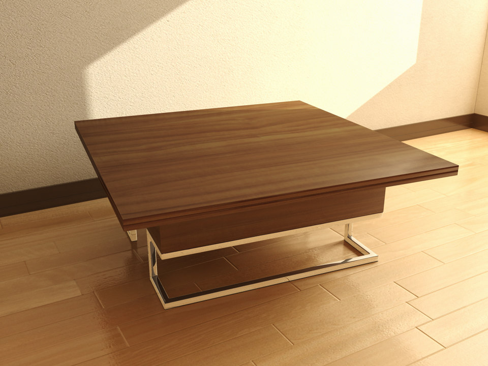 3d model table square