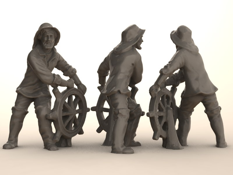 scan data sailor statue 3d model