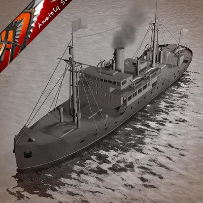 3d sea ship