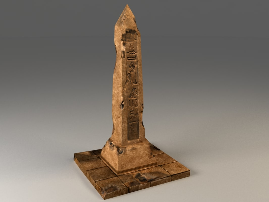 ancient egyptian obelisk 3d max