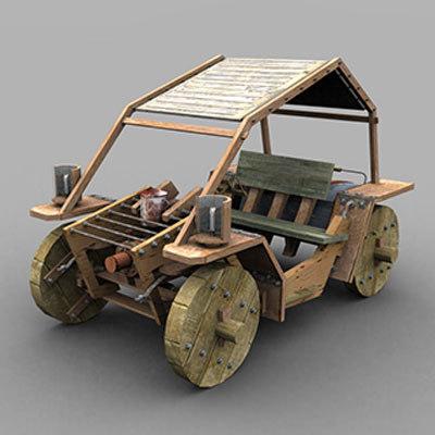 wood mobile 3d max