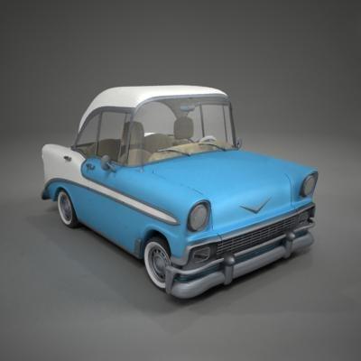 3d toon chevrolet bel air model