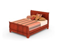 3d sleigh bed model
